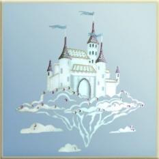 Картина с кристаллами Swarovski Волшебный замок