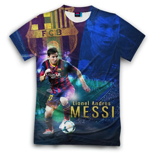 Мужская футболка 3D с полной запечаткой Messi