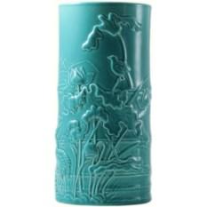 Ваза Gien Цветные эмали голубого цвета