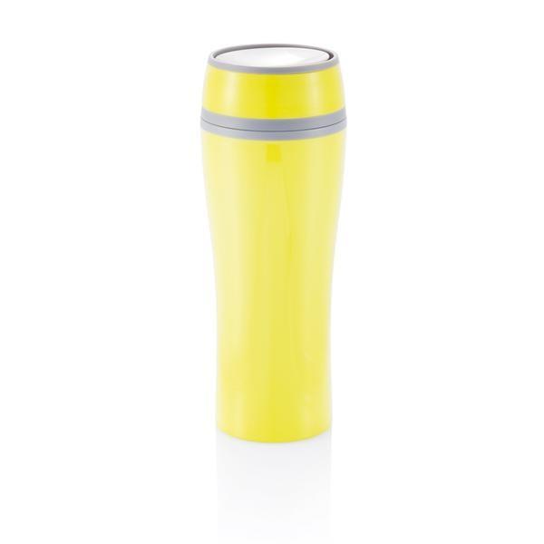 Кружка с двойными стенками Push 400 мл., желтая