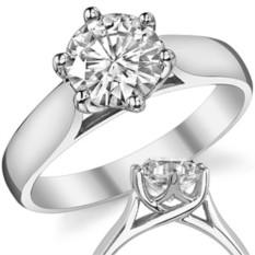 Широкое кольцо Daphie 0,8 карат