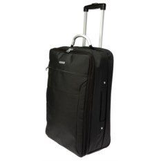 Черная сумка-чемодан на колесиках Trolley bag