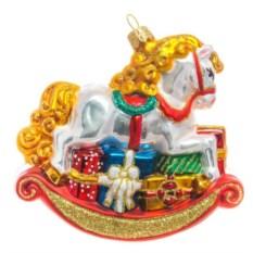 Ёлочная игрушка Лошадка-качалка