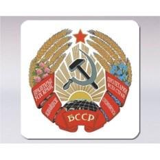 Подставка под кружку «Герб Белорусской ССР»