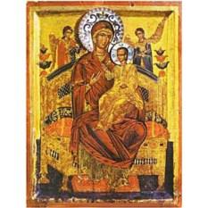 Икона Божией Матери на дереве Всецарица