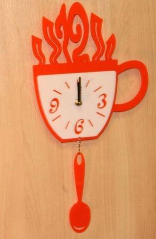 Настенные часы Кружка и ложка
