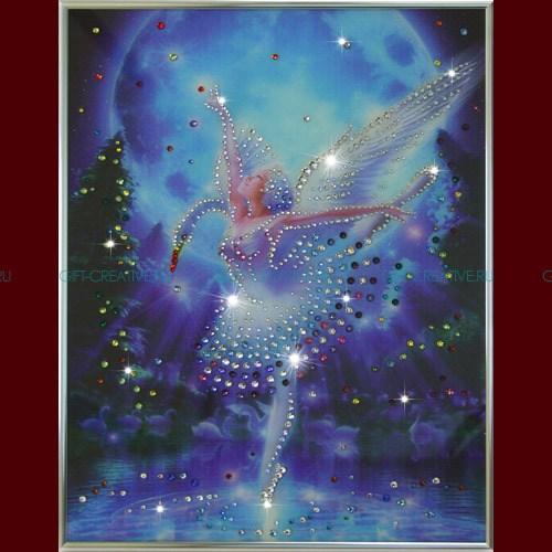Картина с кристаллами Swarovski Лебединое озеро
