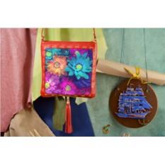 Красная сумка-планшет Красивые цветы Elole Design