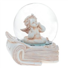 Декоративная фигурка в стеклянном шаре Ангел на книге