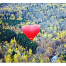 Индивидуальный полет на шаре в форме сердца с видео