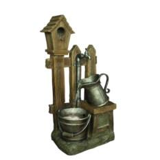 Интерьерный декоративный фонтан Ведро