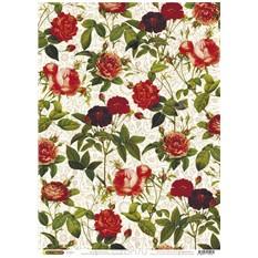 Рисовая бумага для декупажа Райские цветочки, 28,2 см х 38,4 см
