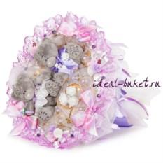 Букет из игрушек Сиреневая свадьба