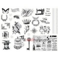 Лист виниловых наклеек Mail art - 4
