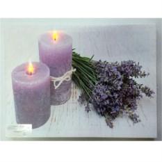 Панно с подсветкой на стену Две свечи