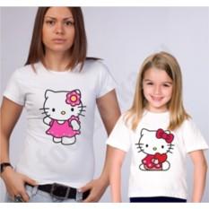 Футболки для мамы и дочки Kitty