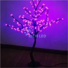 Розовое светодиодное дерево Сакура 1,1х0,75 м