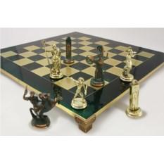 Зеленый шахматный набор Троянская война