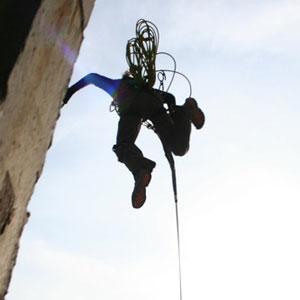 Прыжок с моста - Rope jumping
