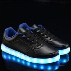 Светящиеся черные LED кроссовки Классика