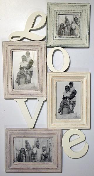 Фоторамка-коллаж на 4 фотографии Love