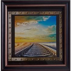 Картина с кристаллами Сваровски Железнодорожник-1