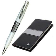 Бело-черный письменный набор Pierre Cardin