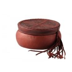 Кожаная шкатулка для украшений «Шарм»