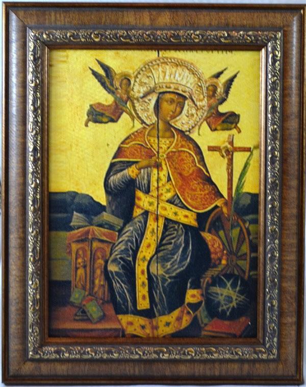 Святая Екатерина Александрийская. Икона на холсте