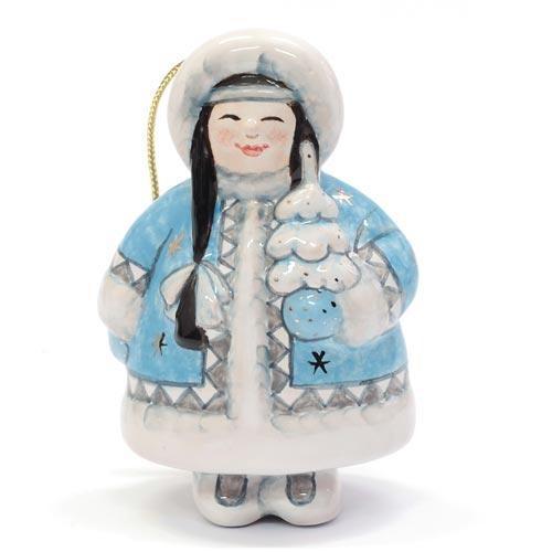 Елочная игрушка Девочка с ёлочкой