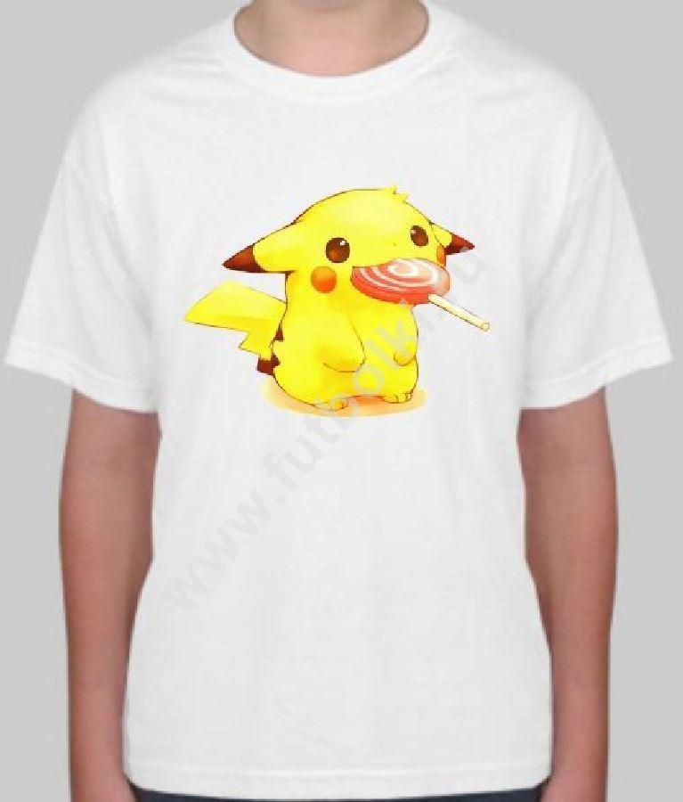 Детская футболка Пикачу с чупа чупс