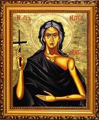 Мария Египетская Преподобная. Икона на холсте
