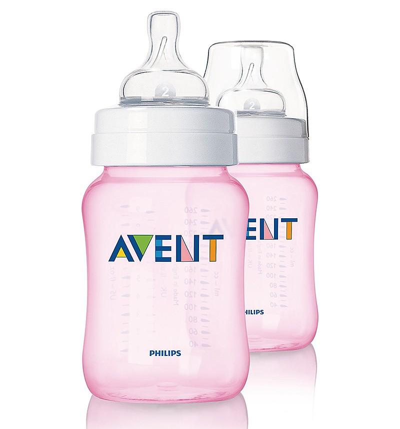 Набор бутылочек Avent 81450 (260 мл), розовый