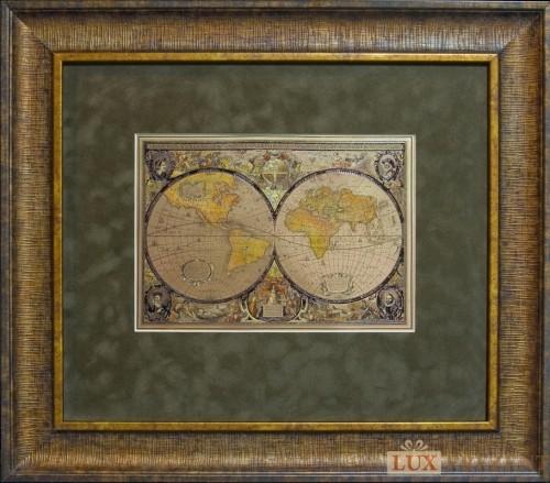 Офорт Карта мира