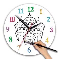 Детские-часы раскраска Кексы