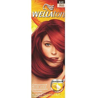 Крем-краска для волос Wellaton 8/45. Красный колорадо