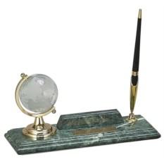 Настольный набор с глобусом, держателем для визиток и ручкой