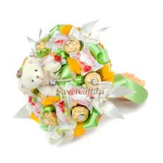 Букет из конфет и игрушек Солнышко