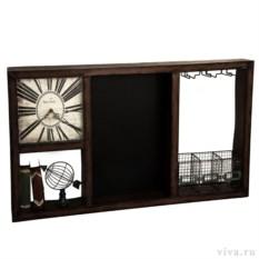 Авторский настенный бар с часами «Винный шкаф»