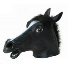 Маска Черная лошадь
