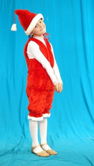 Карнавальный костюм Гномик (головной убор, жилет, штаны)