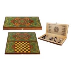 Настольная игра в нарды и шашки Восточный ковер