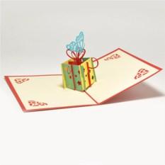 Объемная 3D открытка С днем рождения. Роза