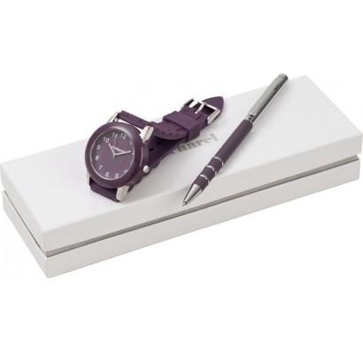 Набор (ручка шариковая, часы наручные)