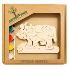 Развивающая игрушка Коровка с ромашкой с красками
