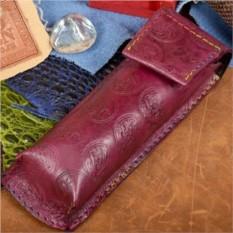 Сиреневый кожаный футляр для очков Elole Design
