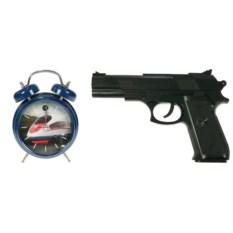 Часы-будильник с пистолетом Меткое пробуждение