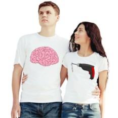Парные футболки Мозг - дрель