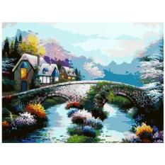 Картина по номерам «Старинный мост»