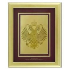 Картина Герб Российской федерации в светлой раме